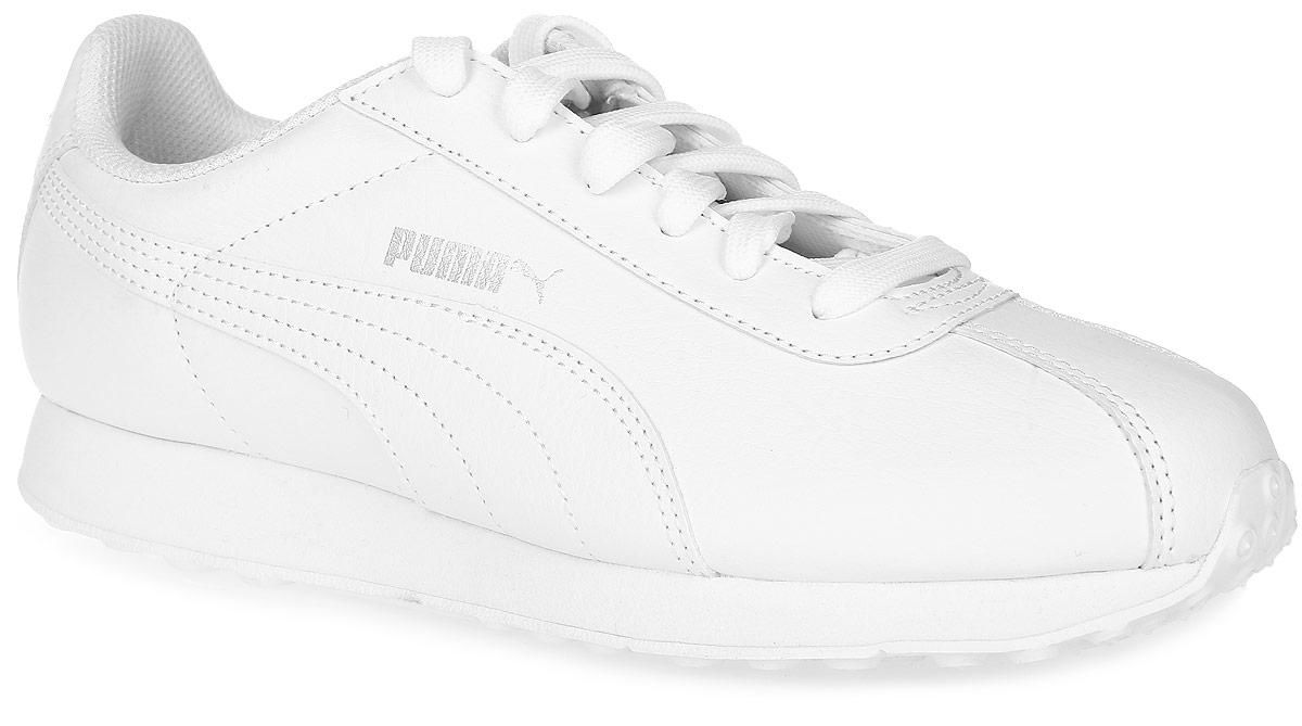 Кроссовки36011605Кроссовки Puma Turin - это универсальные кроссовки, вдохновленные классическими футбольными моделями. Благодаря мягкой искусственной коже верха и амортизирующей промежуточной подошве из этиленвинилацетата эта модель дарит комфорт, сохраняя все признаки классической спортивной обуви, и при этом прекрасно подходит для повседневной носки. Закрытый верх идеально подойдет в ненастную погоду и отлично впишется в любой гардероб. Мягкие и удобные, они подарят вам свободу движений и превосходно подчеркнут ваш спортивный образ.