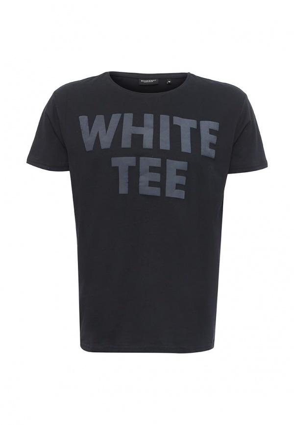 20100359_88BМужская футболка Broadway Pietro с короткими рукавами и круглым вырезом горловины выполнена из натурального хлопка. Футболка украшена контрастным принтом с надписью White Tee.