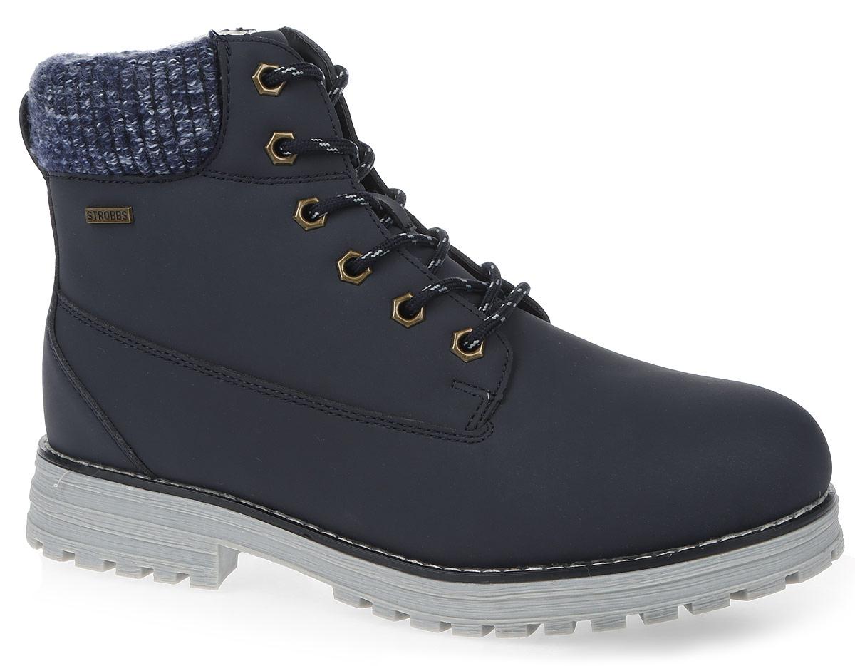 F8158-12Стильные женские ботинки Strobbs, выполненные в спортивном стиле, прекрасно подойдут для активного отдыха и повседневной носки. Верх изготовлен из микрофибры и оформлен вставками из текстиля. Подкладка из искусственной шерсти не даст ногам замерзнуть. Удобная шнуровка надежно зафиксирует модель на стопе. Резиновая подошва с крупным протектором обеспечит хорошее сцепление с любой поверхностью. Модель маломерит на 1 размер. В таких ботинках вашим ногам будет тепло и комфортно.
