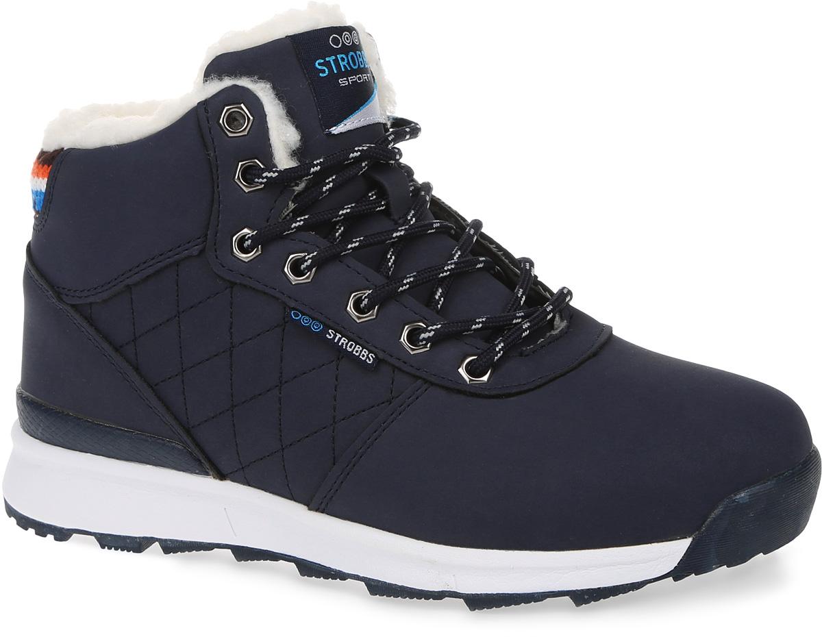 БотинкиF8154-2Стильные женские ботинки Strobbs, выполненные в спортивном стиле, прекрасно подойдут для активного отдыха и повседневной носки. Верх изготовлен из синтетической кожи и декорирован сзади текстильной вставкой. Подкладка из искусственной шерсти не даст ногам замерзнуть. Удобная шнуровка надежно зафиксирует модель на стопе. Подошва обеспечит легкость и естественную свободу движений. Модель маломерит на 1 размер. В таких ботинках вашим ногам будет тепло и комфортно.