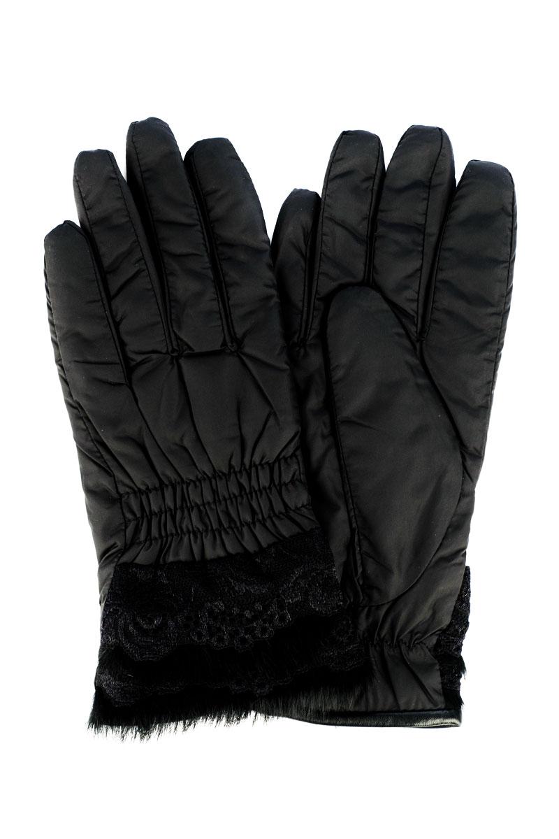 Перчатки95025-12ВСтильные женские перчатки Moltini изготовленные из высококачественных материалов, станут идеальным вариантом для прохладной погоды. Они хорошо сохраняют тепло, мягкие, идеально сидят на руке и отлично тянутся. Перчатки оформлены нашивкой на манжете из меха и нежного гипюра.