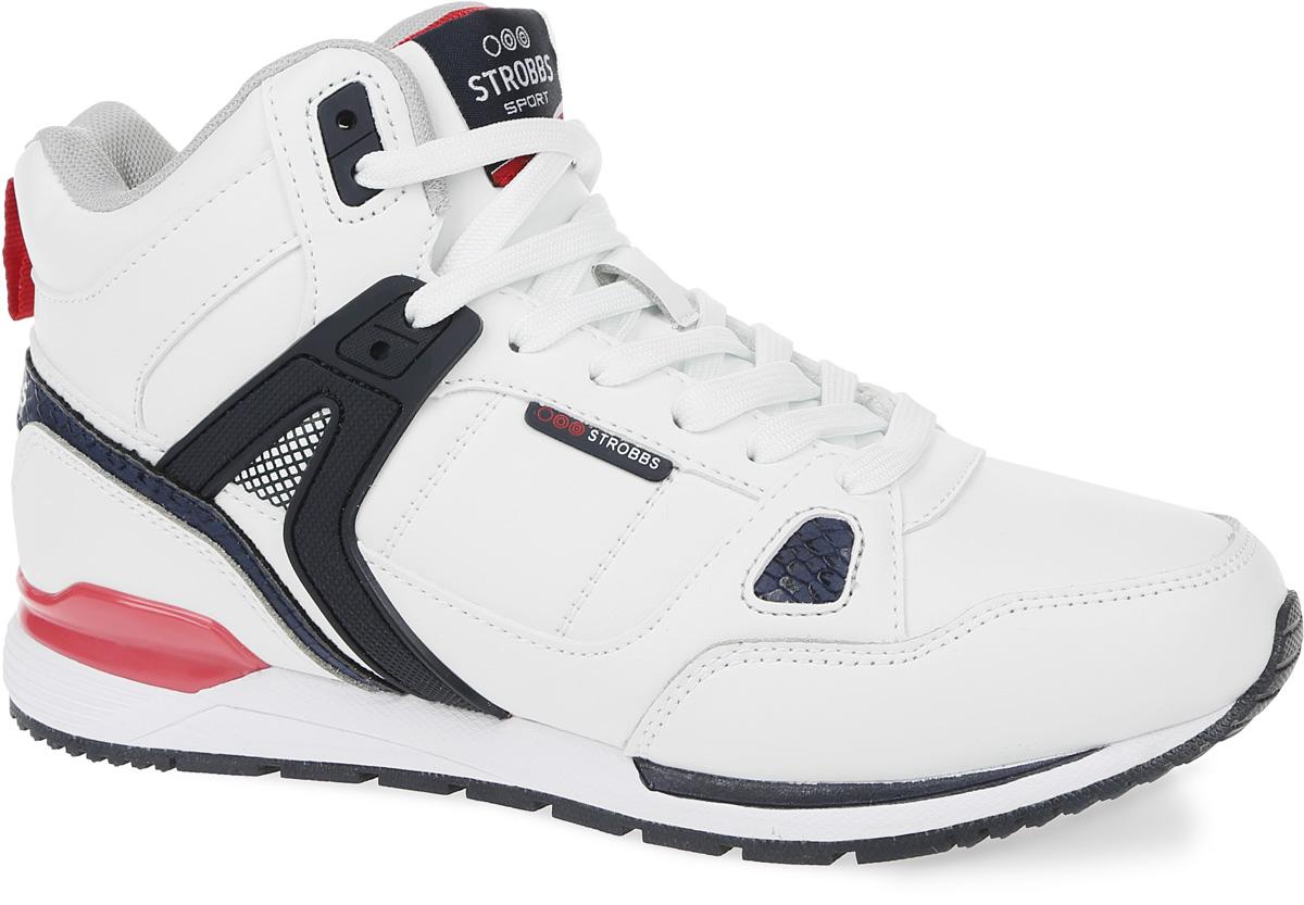 КроссовкиF6444-6Стильные женские кроссовки Strobbs отлично подойдут для повседневной носки. Верх модели выполнен из микрофибры и синтетической кожи. Удобная шнуровка надежно фиксирует модель на стопе. Подошва обеспечивает легкость и естественную свободу движений. Мягкие и удобные, кроссовки превосходно подчеркнут ваш спортивный образ.