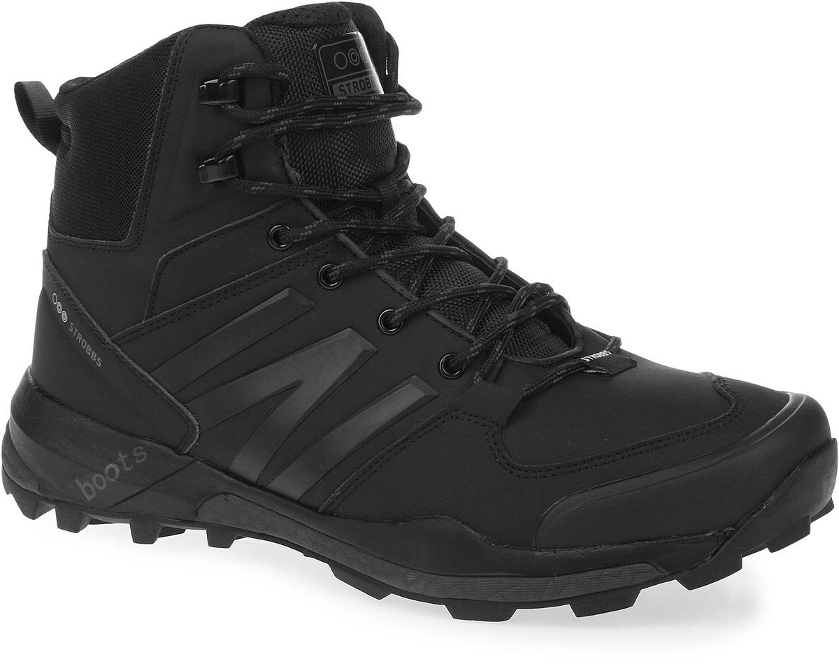 C9064-1Стильные мужские ботинки Strobbs, выполненные в спортивном стиле, прекрасно подойдут для активного отдыха и повседневной носки. Верх изготовлен из микрофибры со вставками из синтетической кожи. Подкладка из искусственного меха не даст ногам замерзнуть. Удобная шнуровка надежно зафиксирует модель на стопе. Подошва обеспечит легкость и естественную свободу движений. В таких ботинках вашим ногам будет тепло и комфортно.