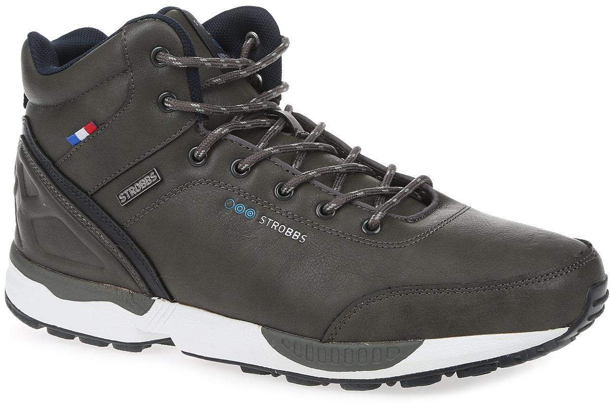 КроссовкиC9075-1Стильные мужские кроссовки Strobbs отлично подойдут для активного отдыха и повседневной носки. Верх модели выполнен из синтетической кожи. Подкладка из искусственного меха не даст ногам замерзнуть. Удобная шнуровка надежно зафиксирует модель на стопе. Подошва препятствует скольжению, а ее особая форма обеспечит удобство при ходьбе. Такие кроссовки превосходно подчеркнут ваш спортивный образ и подарят комфорт.