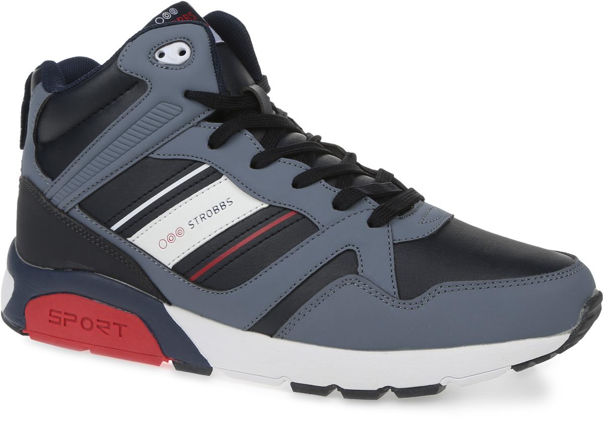 КроссовкиC9062-2Стильные мужские кроссовки Strobbs отлично подойдут для активного отдыха и повседневной носки. Верх модели выполнен из микрофибры. Подкладка из искусственного меха не даст ногам замерзнуть. Удобная шнуровка надежно зафиксирует модель на стопе. Подошва препятствует скольжению, а ее особая форма обеспечит удобство при ходьбе. Модель маломерит на 1 размер. Такие кроссовки превосходно подчеркнут ваш спортивный образ и подарят комфорт.