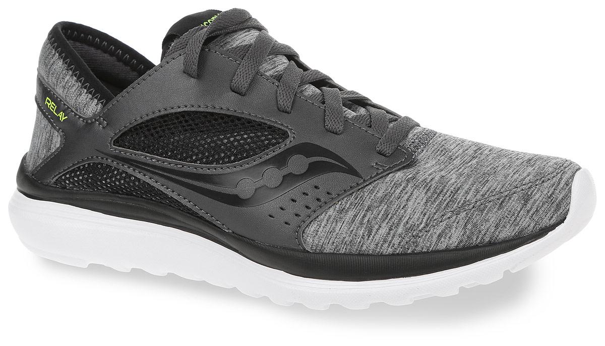 КроссовкиS25244-10Мужские кроссовки для бега Saucony Kineta Relay разработаны для легких тренировок и для активного отдыха. Модель выполнена из сетчатого нейлона и дополнена вставками из искусственной кожи. Язычок оформлен логотипом бренда, по бокам расположены контрастные декоративные элементы. Обувь фиксируется на ноге при помощи классической шнуровки. Подкладка выполнена из текстиля. Стелька Form2U изготовлена из вспененного полимера с эффектом памяти. Подошва выполнена из резины и дополнена рифлением.