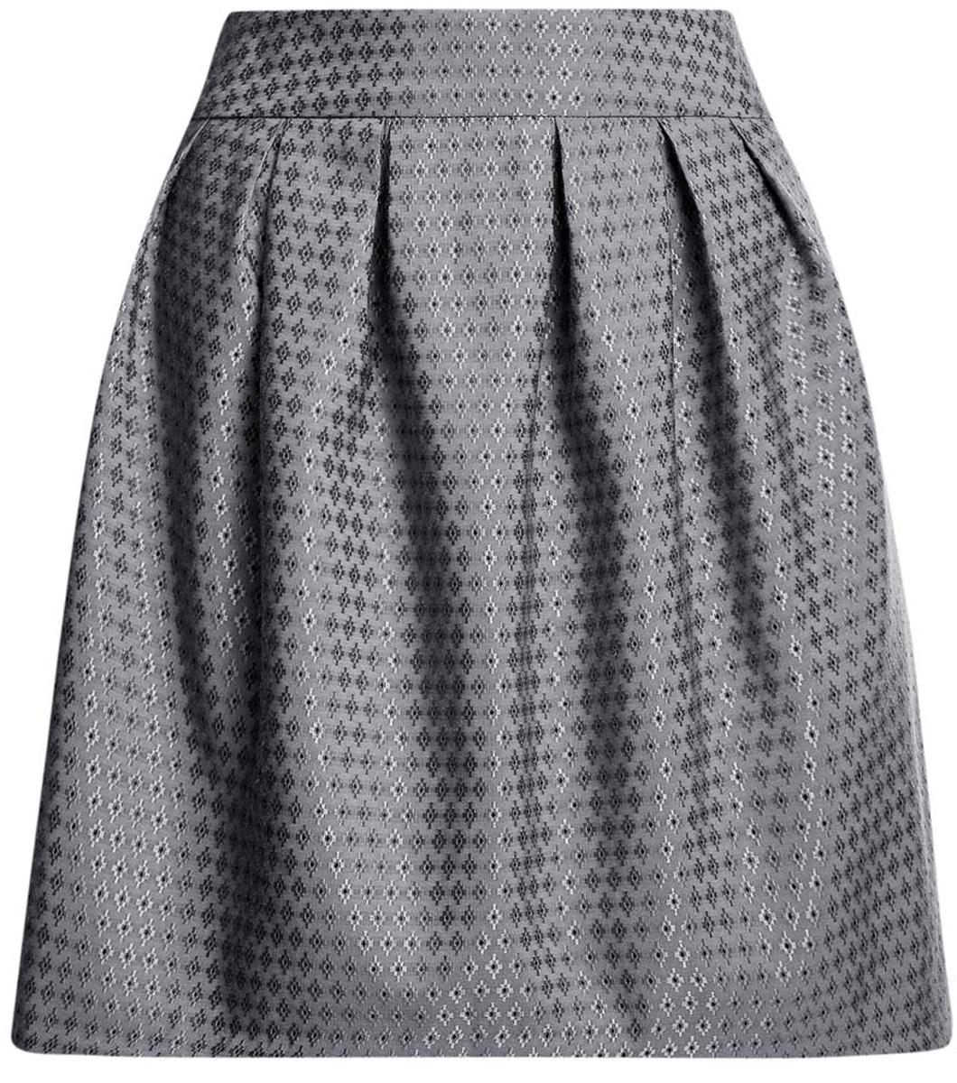 11600388-2/46140/2529DСтильная юбка oodji Ultra выполнена из полиэстера с добавлением вискозы. Модель-миди декорирована складками, дополнена потайной застежкой-молнией сзади и прорезными карманами по боковым сторонам. Оформлена юбка контрастным вышитым принтом.