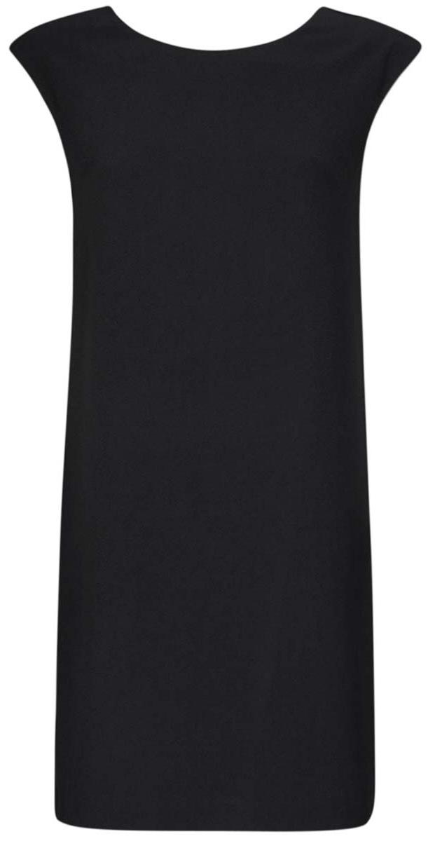 Платье11905031/46068/2900NСтильное платье oodji Ultra выполнено из полиэстера с добавлением полиуретана. Модель прямого фасона с глубоким вырезом на спинке, круглым вырезом горловины и без рукавов.