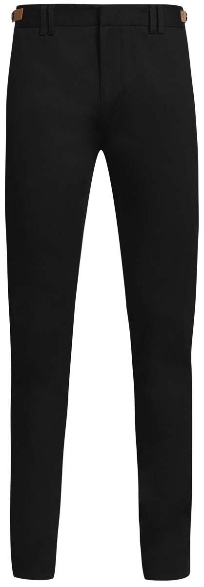 2L210182M/39786N/2900NСтильные мужские брюки oodji Lab выполнены из хлопка с добавлением полиуретана. Модель-слим стандартной посадки застегивается на крючок в поясе и ширинку на застежке-молнии, с внутренней стороны - на пуговицу. Пояс имеет шлевки для ремня. По бокам пояс регулируется с помощью ремешков с кнопками. Спереди изделие дополнено двумя втачными карманами и одним маленьким прорезным кармашком, сзади - двумя прорезными карманами, которые закрываются на клапаны.
