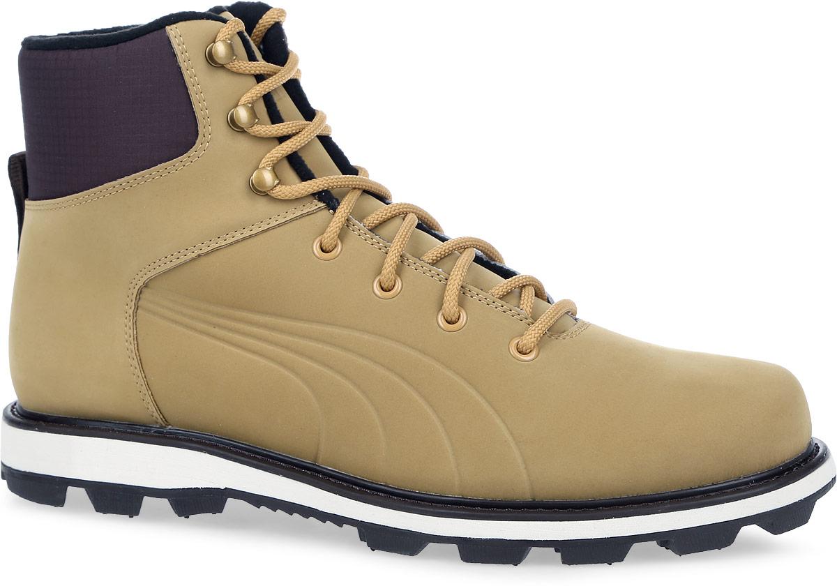36119201Модель Desierto Fun полностью выполнена из натуральной кожи и воплощает идею безопасной обуви для зимнего города. Для этого она снабжена противоскользящей подошвой. Среди других зимних элементов следует отметить обтачку голенища плотной тканью, стильную систему шнуровки, характерную для туристских ботинок, а также мягкую, теплую и уютную подкладку. Ботики оформлены эмблемой Puma Formstrip с обеих сторон, а также фирменным логотипом Puma - на язычке. Desierto Fun - лучший выбор для тех, кому нужна функциональная и долговечная обувь на зимний период, которая выглядела бы стильно и современно!