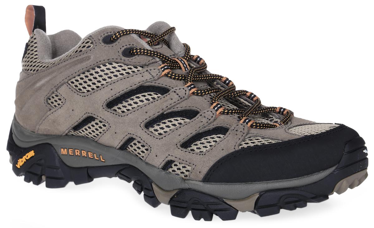 86595Мужские трекинговые кроссовки Merrell Moab Ventilator выполнены из натуральной замши с деталями из вентилируемой сетки. Антибактериальная пропитка M-Select Fresh создает оптимальный микроклимат внутри ботинка и препятствует росту бактерий. Усиленный бампер из синтетической кожи и резиновый подносок защищают стопу и продлевают срок службы обуви. Промежуточная подошва с технологией Air Cushion гарантирует надежную амортизацию и надежную фиксацию стопы. Нейлоновый супинатор поддерживает свод стопы и защищает от ударов. Подошва Vibram обеспечивает высокую степень надежности и отличное сцепление с поверхностью.
