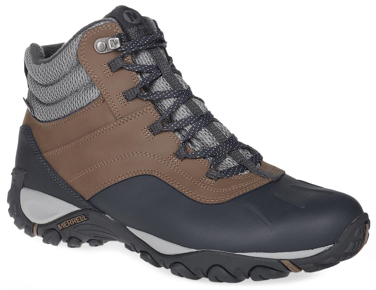 310970CУтепленные мужские ботинки Merrell Atmost Mid Wtpf - отличный выбор для зимнего туризма и активного отдыха. Подошва Merrel гарантирует надежное сцепление. Утеплитель Thermal 200 г сохранит тепло, в то время как от промокания защитит мембрана M Select Dry. Дополнительное удобство при ходьбе обеспечит супинатор, поддерживающий свод стопы, и промежуточная подошва, которая создана с помощью технологии Air Cushion. Фиксируются ботинки на ноге при помощи классической шнуровки.