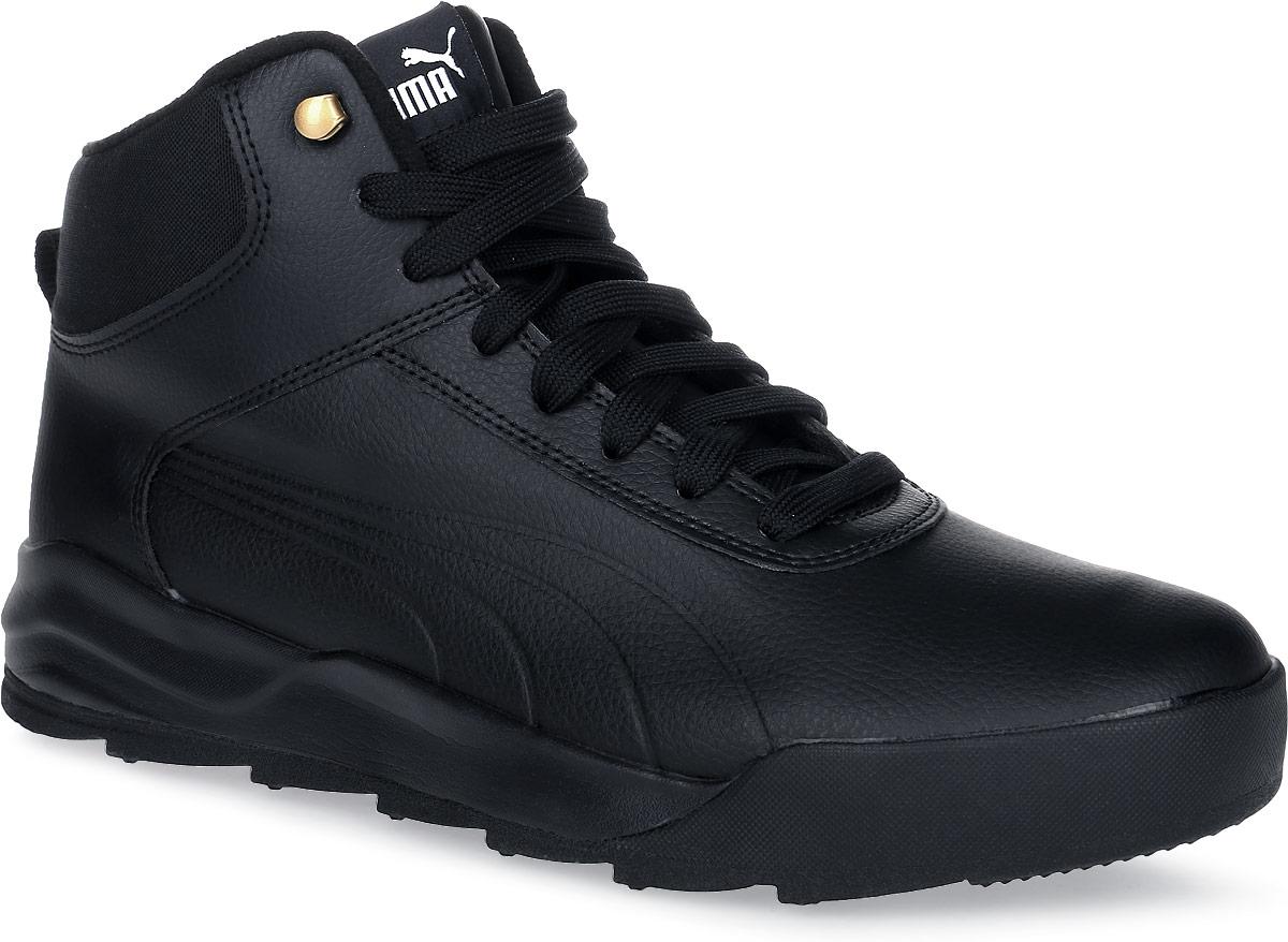 Ботинки36206501Новая модель Desierto Sneaker - это комфорт мягких кроссовок в сочетании с прочностью и надежностью зимних ботинок. Она выполнена из натуральной кожи и снабжена упругой и эластичной промежуточной подошвой из вспененного этиленвинилацетата. Мощная ребристая внешняя подошва обеспечивает отличное сцепление с поверхностью. Среди других зимних элементов следует отметить обтачку голенища плотной тканью, стильную систему шнуровки, характерную для туристских ботинок, а также мягкую, теплую и уютную подкладку. Ботинки оформлены эмблемой Puma Formstrip с обеих сторон, а также фирменным логотипом Puma - на язычке. Desierto Sneaker - лучший выбор для тех, кому нужна функциональная и долговечная обувь на зимний период, которая выглядела бы стильно и современно!