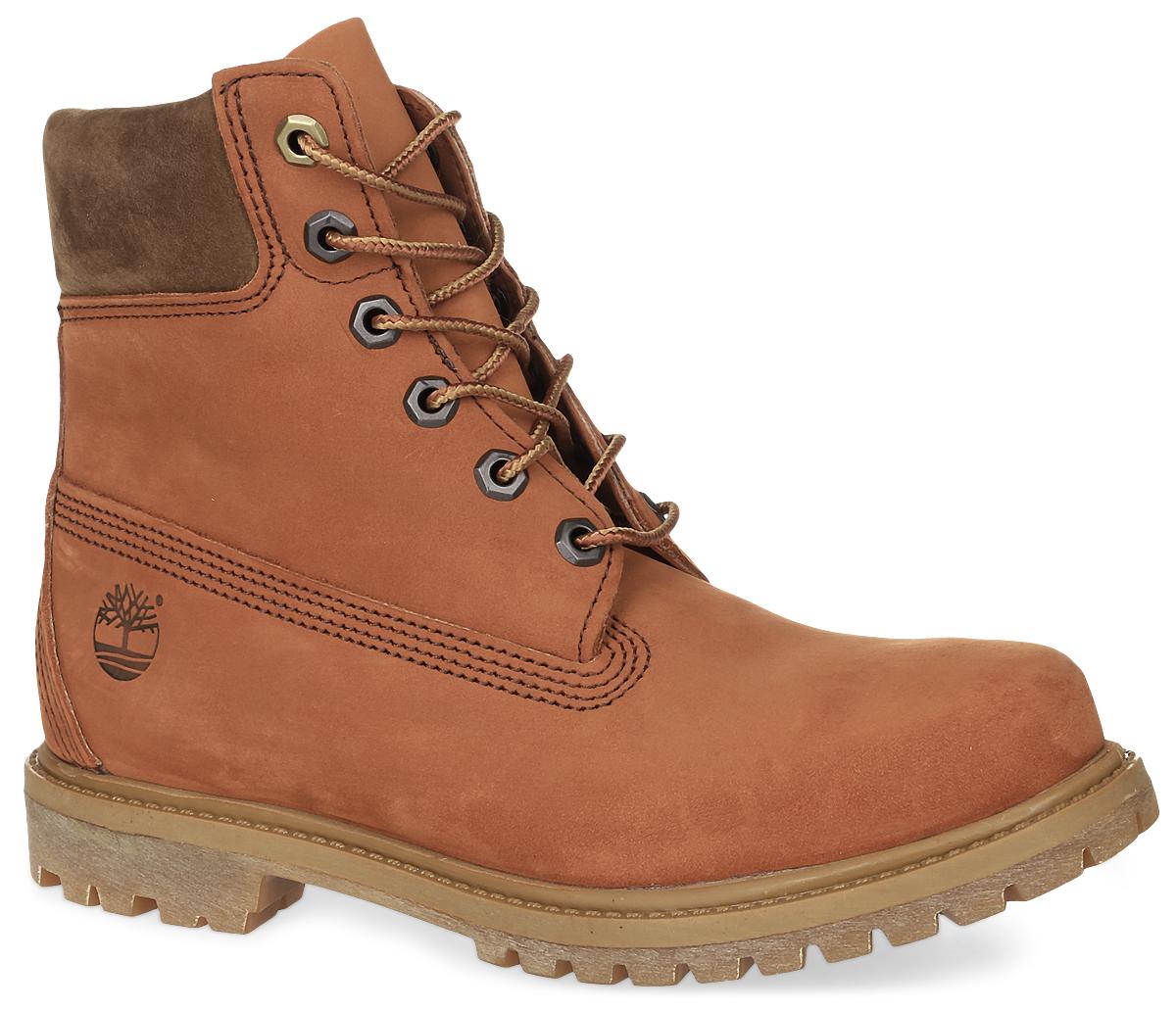 TBLA18NUWКлассические шестидюймовые ботинки 6-inch Premium Boot от Timberland заинтересуют вас своим дизайном с первого взгляда! Модель изготовлена из натурального нубука и сбоку оформлена тисненым логотипом бренда. Высокий язычок и шнуровка обеспечивают плотное прилегание верхней части ботинок к ноге, создавая дополнительную теплозащиту. Утеплитель Primaloft 400г и стелька Anti-Fatigue для большего комфорта обеспечивают максимальный комфорт при движении. Каблук и подошва с протектором гарантируют идеальное сцепление с любыми поверхностями.