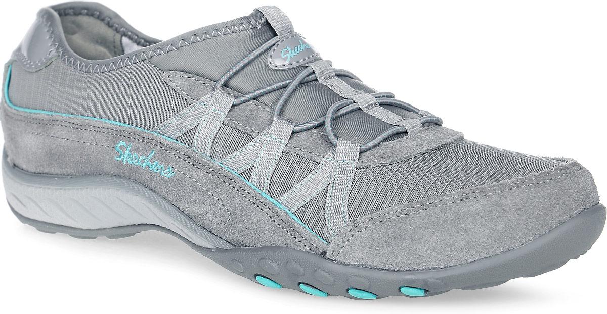 22515-GRYСтильные женские кроссовки Breathe-Easy - Big-Break от Skechers предназначены для занятий спортом и активного отдыха. Модель с технологией Relaxed Fit выполнена из натуральной замши с комбинацией из текстиля. Основные отличительные черты данной обуви - комфортная стелька с эффектом памяти Memory Foam, которая будет повторять форму стопы и увеличенное носочное пространство для дополнительного удобства. Эластичная шнуровка надежно фиксирует модель на ноге.