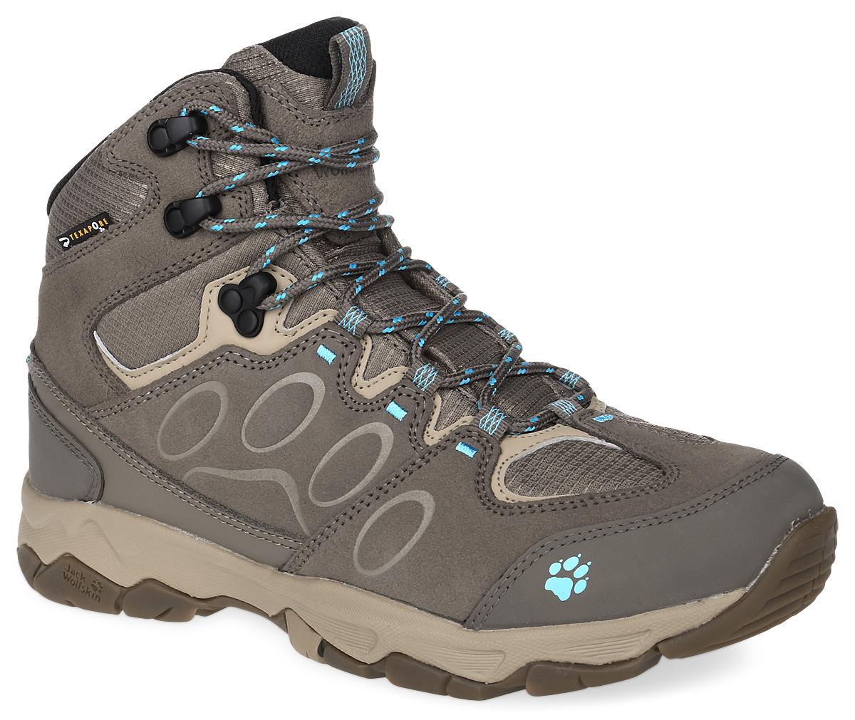 Ботинки4017591-1044Женские трекинговые ботинки MTN Attack 5 Texapore от Jack Wolfskin прекрасно подойдут для активного отдыха и пеших прогулок. Верх модели выполнен из натуральной замши со вставками из водонепроницаемого текстиля. Обувь оформлена на мысе и на заднике логотипом бренда, на язычке - фирменной нашивкой. Шнуровка позволяет оптимально зафиксировать модель на ноге. Язычок дополнен текстильной петлей для легкого обувания. Тонкий, хорошо изолирующий утеплитель Thinsulate. Водонепроницаемая, дышащая мембрана Texapore. Стелька EVA с текстильной поверхностью для амортизации и комфорта. Быстросохнущая подкладка Circuliner обеспечивает отличную вентиляцию. Комфорт при ходьбе и надежную устойчивость обеспечивает подошва Wolf Hike Cl, которая характеризуется улучшенными характеристиками переката и легкой амортизацией. Эти ботинки оптимальный вариант для трекинга. В них вашим ногам будет комфортно и уютно.