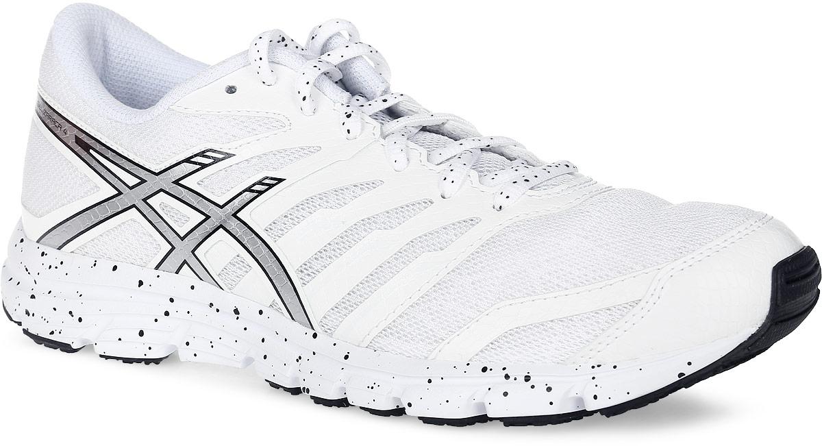 T5K8Q-0193Asics Gel-Zaraca 4 - это женские легкие кроссовки, разработанные специально для бега, занятий спортом и активного отдыха. Модель выполнена из комбинации лёгкой синтетической кожи, воздухопроницаемого сетчатого текстиля и искусственных материалов. Подъем оформлен классической шнуровкой, которая надежно фиксирует обувь на ноге и регулирует объем. Стелька, которая идеально подстраивается под анатомические контуры стопы, изготовлена из ЭВА материала с верхним покрытием из текстиля. Подкладка из текстиля обеспечит уют. Вставка из термостойкого геля на силиконовой основе значительно уменьшает нагрузку на пятку, колени и позвоночник спортсмена, снижая возможность получения травмы. По бокам кроссовки декорированы оригинальным принтом. Задник и язычок, препятствующий попаданию грязи внутрь, дополнены символикой бренда. Светоотражающая вставка на заднике создает дополнительную видимость в темное время суток. Подошва разделена полноразмерной направляющей линией, что воспроизводит...