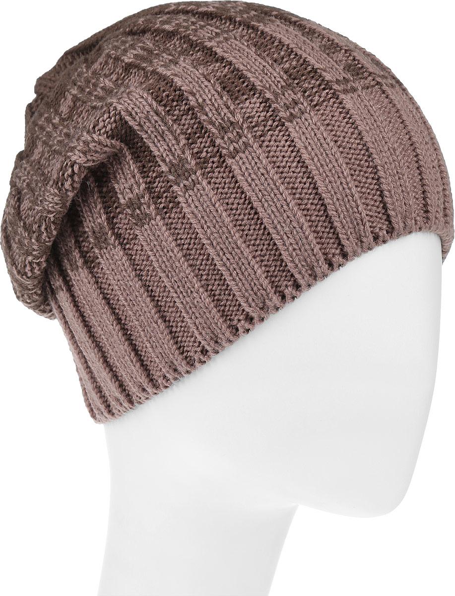 Шапка4-076Женская шапка Leighton Trend изготовлена из шерсти с добавлением акрила. Модель оформлена вертикальной вязкой и градиентным переходом. Уважаемые клиенты! Размер, доступный для заказа, является обхватом головы.