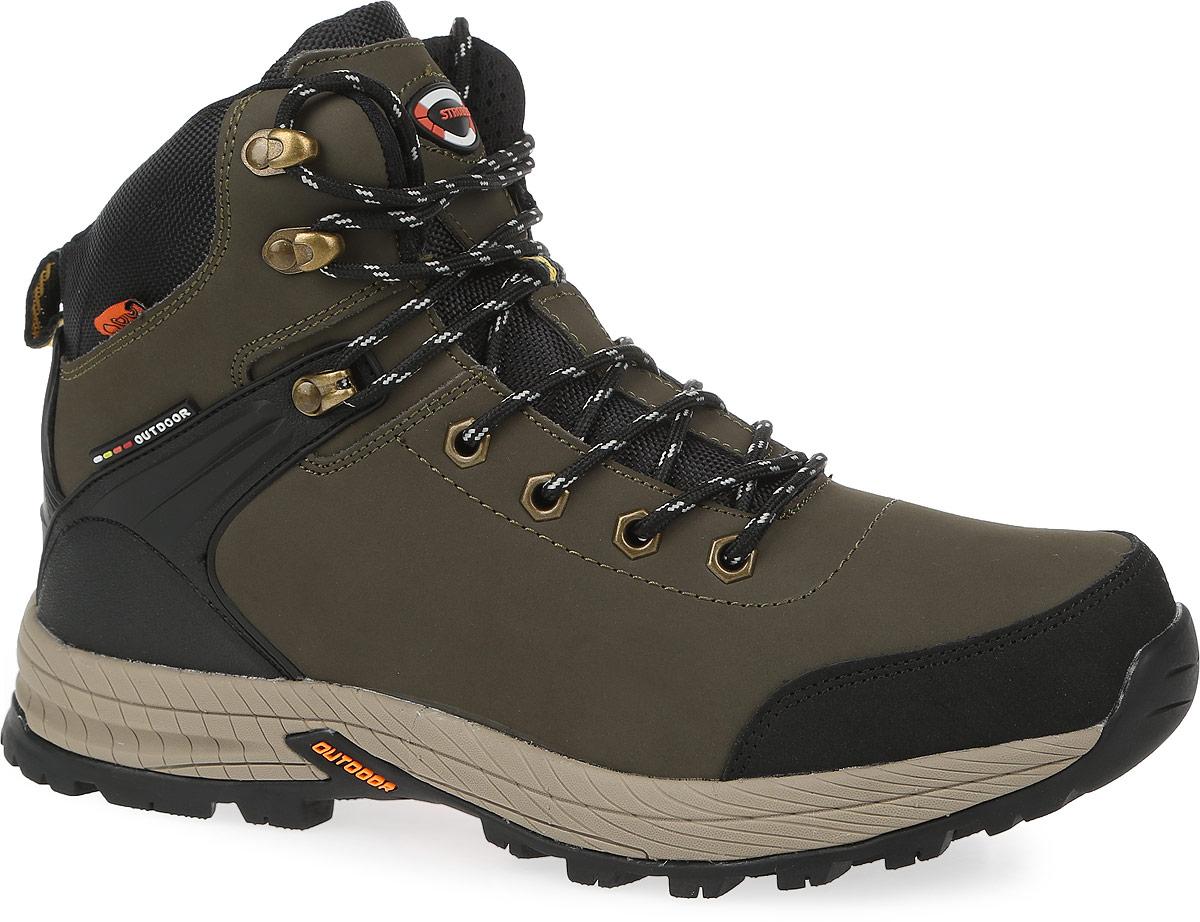 БотинкиC9078-19Стильные мужские ботинки Strobbs, выполненные в спортивном стиле, прекрасно подойдут для активного отдыха и повседневной носки. Верх модели изготовлен из натурального нубука. Подкладка из натурального меха не даст ногам замерзнуть. Удобная шнуровка надежно зафиксирует модель на стопе. Подошва с крупным протектором обеспечит хорошее сцепление с любой поверхностью. Такие ботинки займут достойное место в вашем гардеробе.