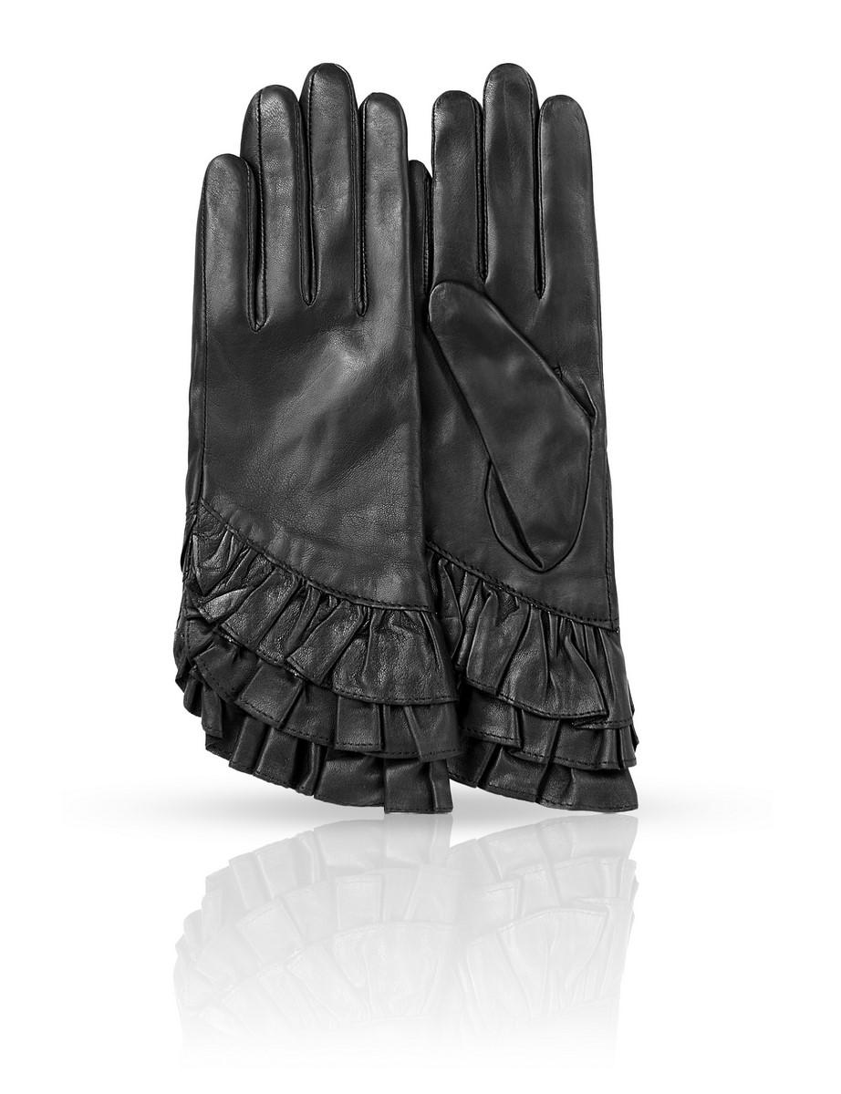 11_FLAME/BLЖенские перчатки Dali Exclusive не только защитят ваши руки, но и станут великолепным украшением. Перчатки выполнены из натуральной кожи, а их подкладка - из высококачественной шерсти.