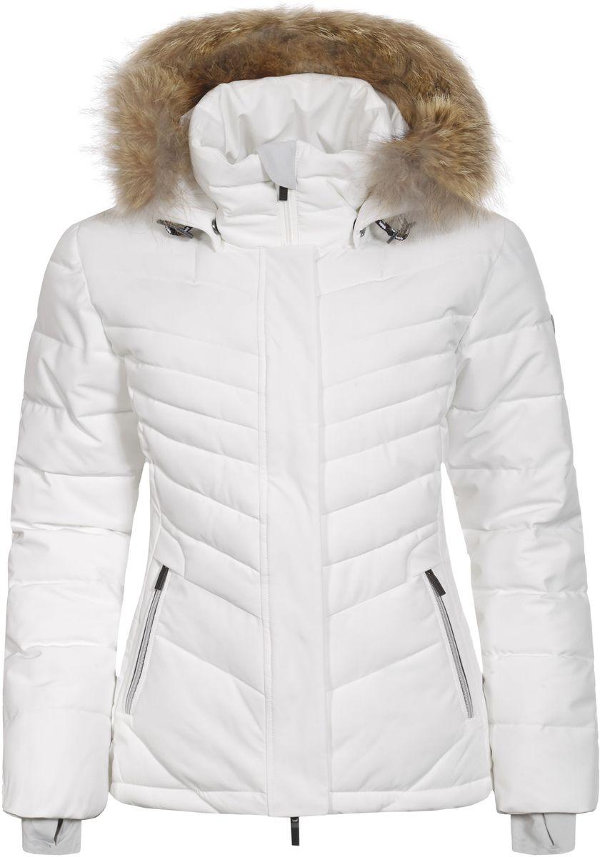 Куртка636467535L7V_010Женская куртка Luhta Petrissa выполнена из непромокаемой ветрозащитной ткани. Куртка с воротником-стойкой и съемным капюшоном на застежке-молнии застегивается на удобную застежку-молнию спереди и имеет ветрозащитный клапан на кнопках. Капюшон дополнен шнурком-кулиской со стопперами и украшен съемным искусственным мехом. Рукава оснащены внутренними трикотажными манжетами. Спереди расположены два втачных кармана на застежках-молниях, под ветрозащитным клапаном находится втачной карман на застежке-молнии. По низу куртка дополнена шнурком-кулиской.