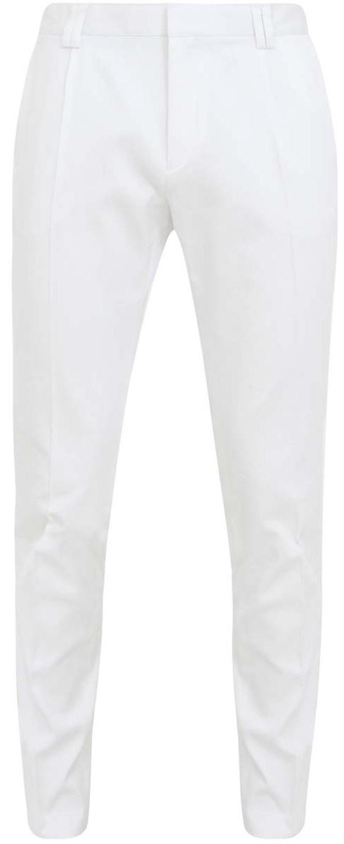 Брюки2L210016Q/34730N/1010JСтильные мужские брюки oodji Lab выполнены из хлопка с добавлением полиуретана. Модель прямого кроя и стандартной посадки застегивается на крючок в поясе и ширинку на застежке-молнии, с внутренней стороны - на пуговицу. Пояс имеет шлевки для ремня. Спереди брюки дополнены двумя втачными карманами, сзади - двумя прорезными карманами на пуговицах.