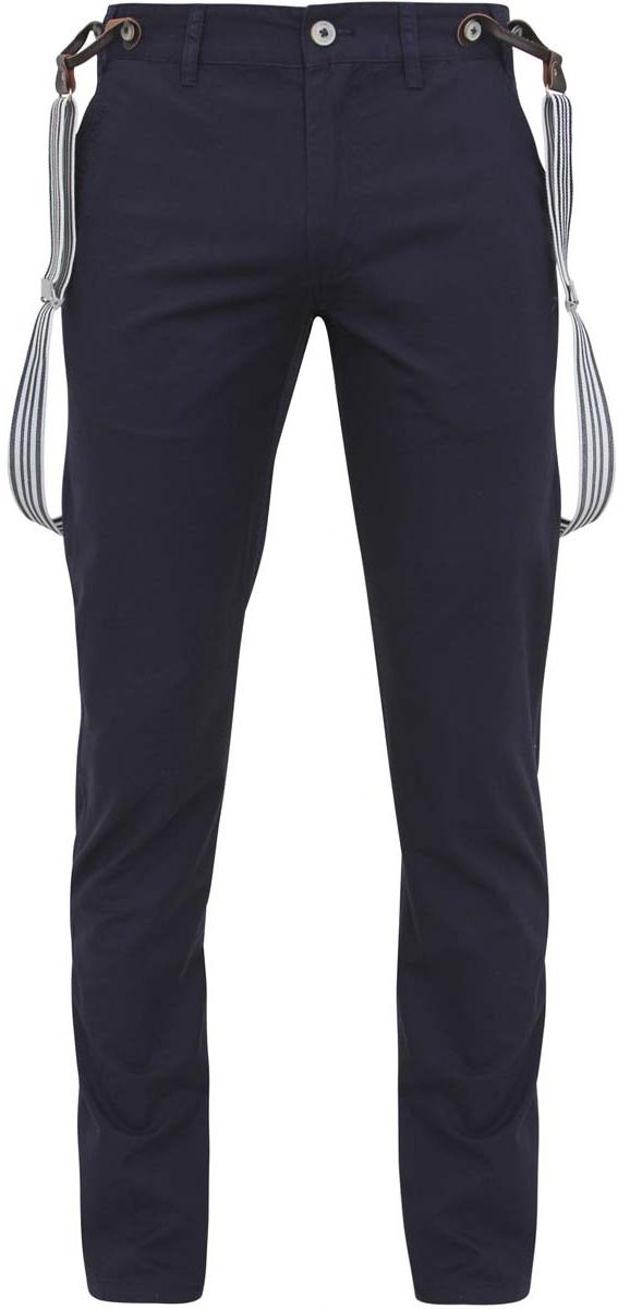 Брюки2L100073M/19299N/7900NМужские брюки oodji Lab выполнены из хлопковой ткани. Прямая модель стандартной посадки застегивается на пуговицу и ширинку на застежке-молнии. Пояс имеет шлевки для ремня. Спереди брюки дополнены втачными карманами, сзади - прорезными карманами и хлястиком, при помощи которого регулируется объем бедер. В комплект входят эластичные и регулируемые по длине подтяжки на пуговицах.