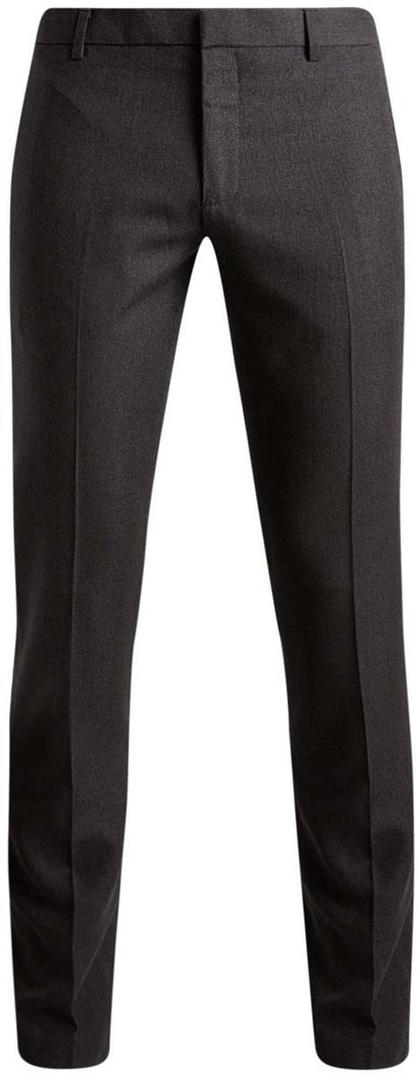 Брюки2L210170M/44321N/2500OМужские брюки oodji выполнены из полиэстера с добавлением вискозы. Модель- слим застегивается на крючок в поясе и ширинку на молнии. Имеются шлевки для ремня. Спереди расположены два втачных кармана, сзади - имитация двух прорезных кармашков.