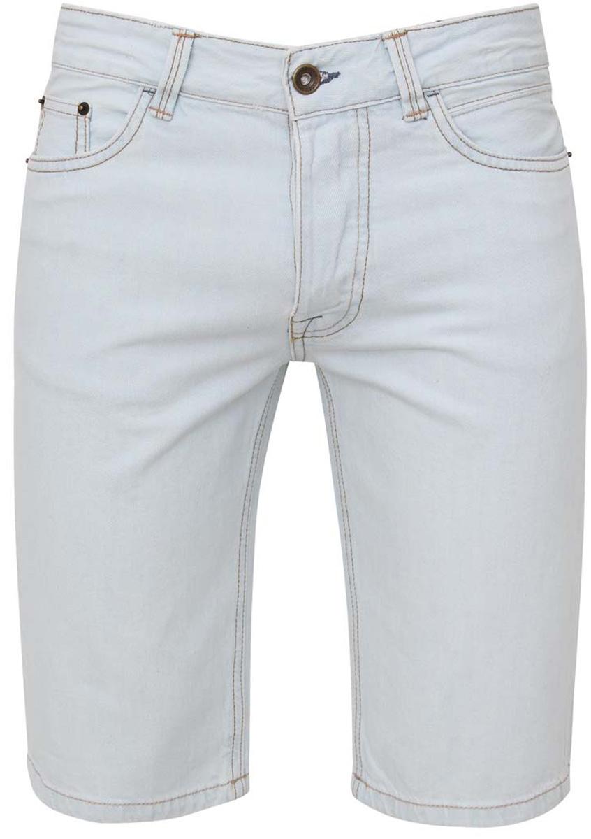 Шорты6L210015M/39644N/7000WСтильные и практичные мужские джинсовые шорты oodji выполнены из натурального хлопка. Шорты застегиваются на металлические пуговицы. На поясе расположены шлевки для ремня. Шорты имеют классический пятикарманный крой, они оснащены двумя втачными карманами и небольшим накладным кармашком спереди, и двумя втачными карманами сзади.
