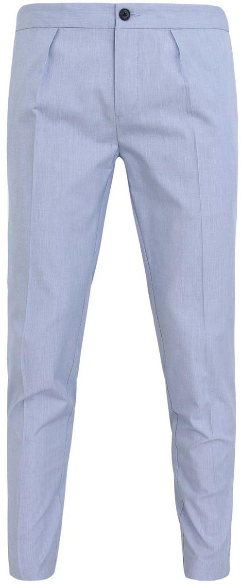 Брюки2L150022Q/39798N/7000NСтильные мужские брюки oodji Lab выполнены из натурального хлопка. Модель-слим стандартной посадки застегивается на пуговицы. Сзади пояс регулируется с помощью хлястиков с пуговицами. Спереди брюки дополнены двумя втачными карманами, сзади - двумя прорезными карманами.