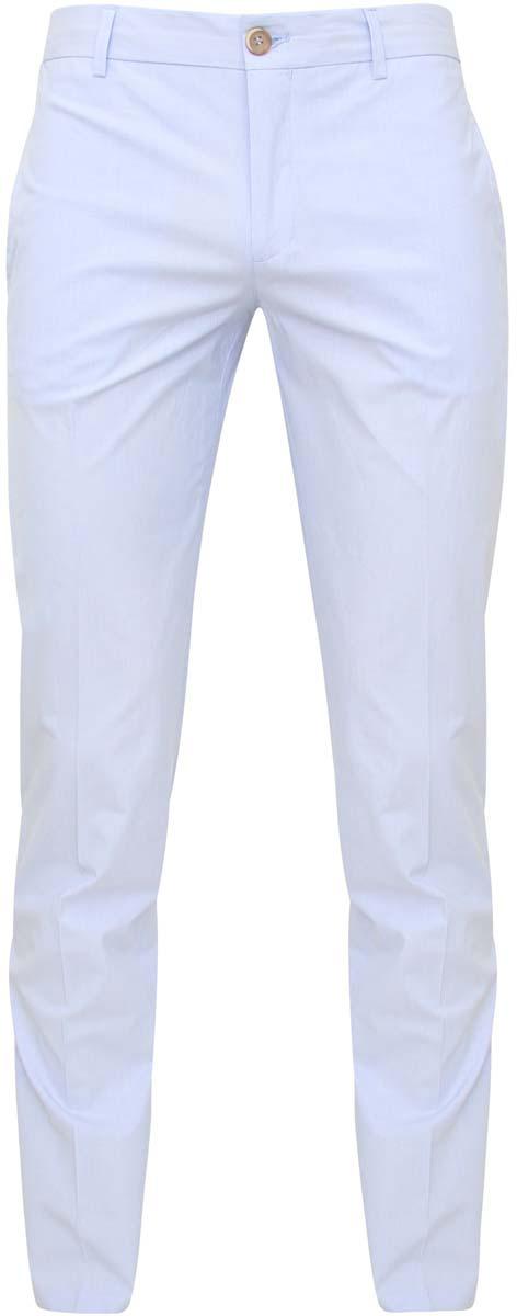 2L100062M/39429N/7510SМужские брюки oodji Lab выполнены из хлопка с добавлением полиуретана. Модель застегивается на пуговицу в поясе, внутреннюю пуговицу и ширинку на молнии. Имеются шлевки для ремня. Спереди расположены два втачных кармана, сзади - два прорезных кармана на пуговицах. Изделие оформлено стрелками.