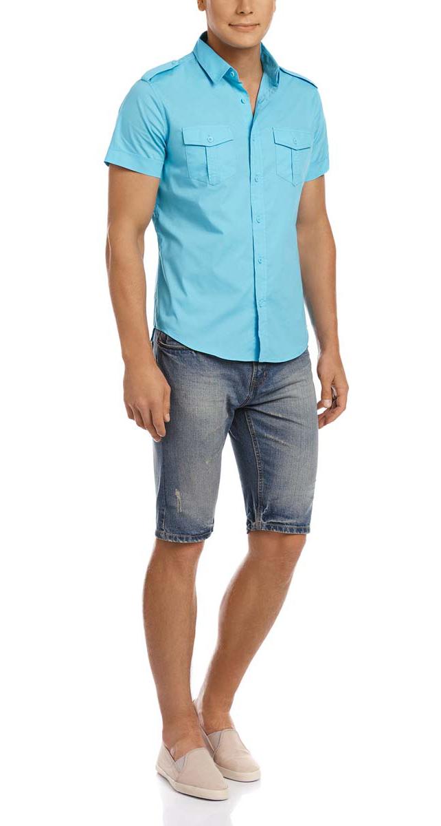 Шорты6B220011M/34843N/7500WСтильные и практичные мужские джинсовые шорты oodji выполнены из натурального хлопка. Шорты застегиваются на ширинку на застежке-молнии, а также пуговицу на поясе. На поясе расположены шлевки для ремня. Шорты имеют классический пятикарманный крой, они оснащены двумя втачными карманами и небольшим накладным кармашком спереди, и двумя втачными карманами сзади. Оформлена модель потертостями.