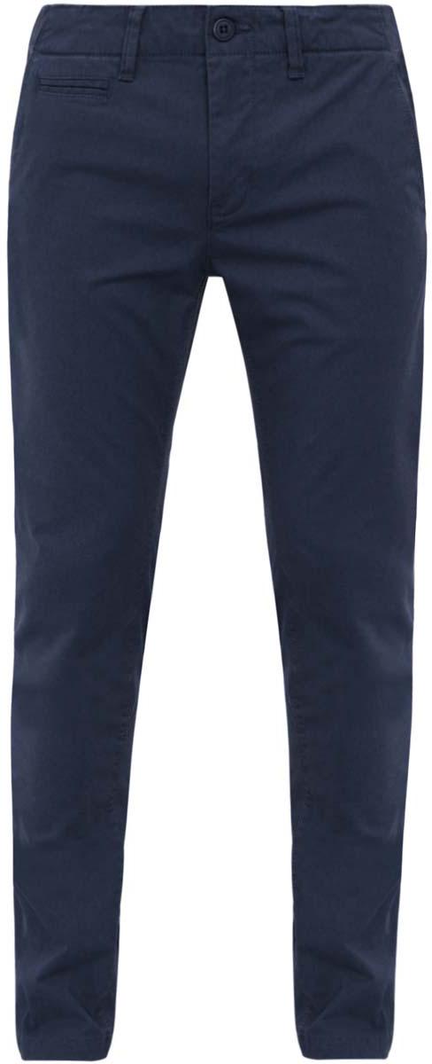 Брюки2L150052M/39415N/3300NСтильные мужские брюки oodji Lab выполнены из натурального хлопка. Модель прямого кроя и стандартной посадки застегивается на две пуговицы в поясе и ширинку на застежке-молнии. Пояс сзади регулируется с помощью хлястиков с кнопками и имеет шлевки для ремня. Спереди брюки дополнены двумя втачными карманами и маленьким прорезным кармашком, сзади - двумя прорезными карманами с клапанами на пуговицах.