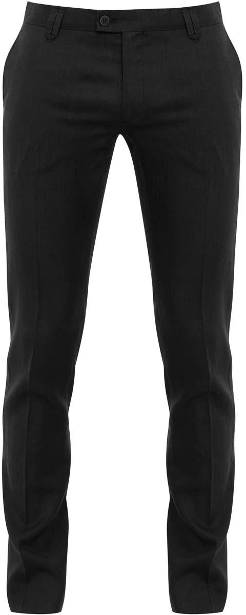Брюки2B210008M/34263N/2900NМужские брюки oodji выполнены из 100% льна. Модель застегивается на пуговицу в поясе и ширинку на молнии. Имеются шлевки для ремня. Спереди расположены два втачных кармана, сзади - имитация двух прорезных карманов.