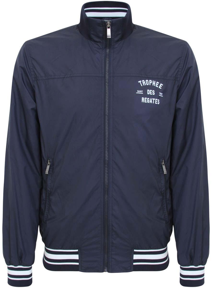 1L511040M/34210N/7900NМужская куртка oodji изготовлена из полиэстера. В качестве подкладки используется хлопок и полиэстер (рукава). Модель застегивается на застежку-молнию. Воротник, низ куртки и рукава дополнены резинками. Спереди расположены два прорезных кармана на молниях, с внутренней стороны - прорезной карман на застежке-молнии.