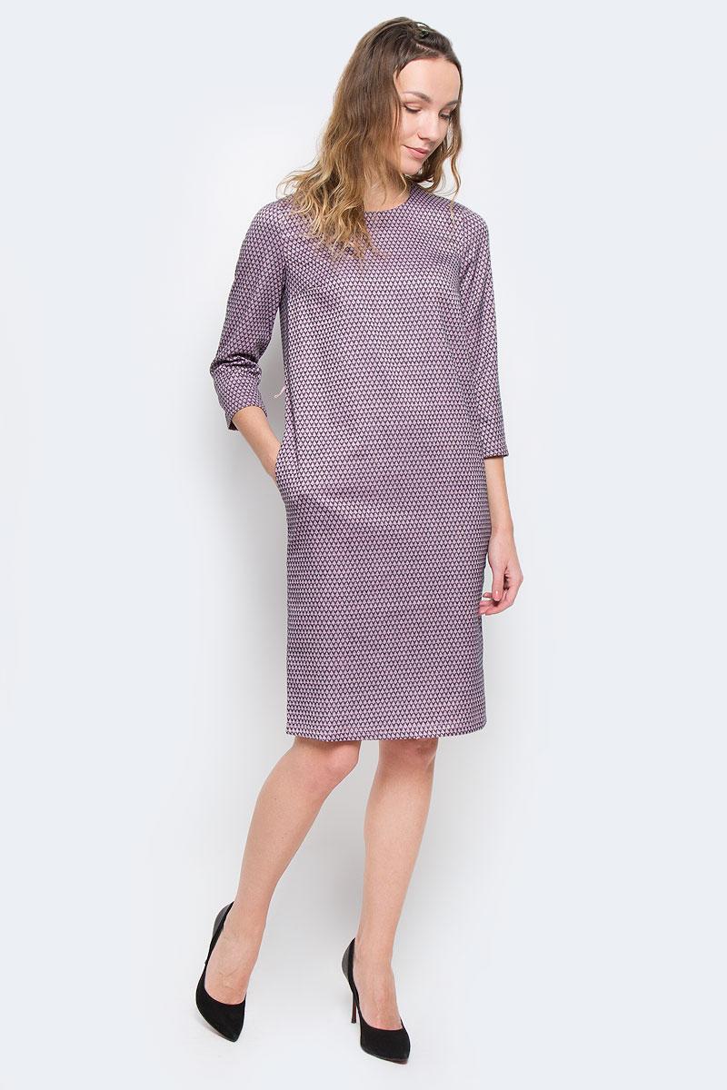 ПлатьеW15-11031Очаровательное платье Finn Flare прямого кроя из мягкого плотного трикотажа подойдет не только для повседневной носки, но и с легкостью поможет создать романтический образ. Модель с круглым вырезом горловины и рукавами 3/4 выполнена из хлопка с добавлением вискозы. На спинке модель застегивается на скрытую застежку-молнию. Платье дополнено тонким ремешком из искусственной кожи. Это стильное платье подарит вам комфорт и станет отличным дополнением к вашему гардеробу.
