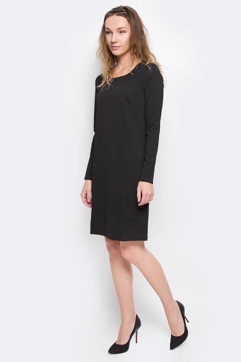 ПлатьеW15-11026Элегантное платье Finn Flare выполнено из эластичного полиэстера. Такое платье обеспечит вам комфорт и удобство при носке. Модель с длинными рукавами и круглым вырезом горловины выгодно подчеркнет все достоинства вашей фигуры. Платье оформлено оригинальным рельефным узором. Изысканное однотонное платье-миди создаст обворожительный и неповторимый образ. Это модное и удобное платье станет превосходным дополнением к вашему гардеробу, оно подарит вам удобство и поможет вам подчеркнуть свой вкус и неповторимый стиль.