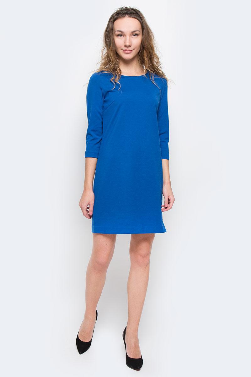 ПлатьеDK-117/495-5392Стильное трикотажное платье Sela, выполненное из высококачественного плотного материала, будет отлично на вас смотреться. Модель А-силуэта с рукавами 3/4 и круглым вырезом горловины выполнена в лаконичном насыщенном цвете. Классический покрой, модный дизайн, безукоризненное качество. Идеальный вариант для тех, кто ценит комфорт и качество.