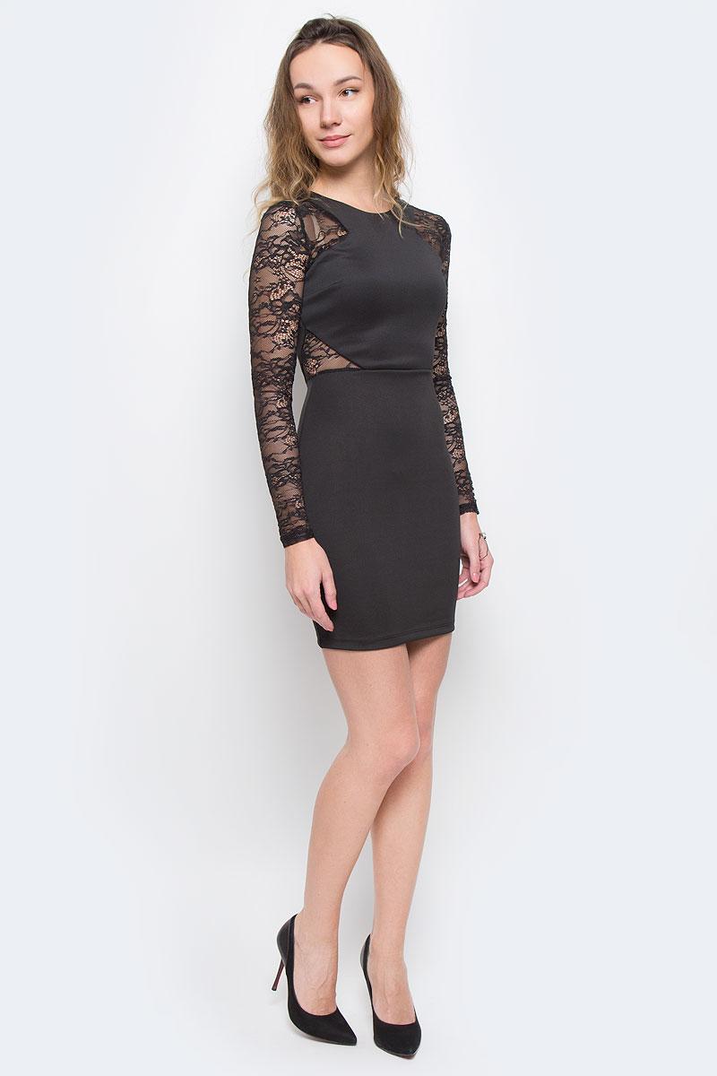 ПлатьеSDRSCCIACI HH/BLK001Элегантное платье Broadway изготовлено из высококачественного эластичного полиэстера. Такое платье обеспечит вам комфорт и удобство при носке. Модель с длинными рукавами и круглым вырезом горловины выгодно подчеркнет все достоинства вашей фигуры благодаря приталенному силуэту. Платье застегивается на застежку-молнию на спинке. Рукава платья выполнены из кружевной полупрозрачной ткани. Изделие оформлено кружевными вставками на талии. Изысканное платье-миди с пришивной юбкой создаст обворожительный и неповторимый образ. Это модное и удобное платье станет превосходным дополнением к вашему гардеробу, оно подарит вам удобство и поможет вам подчеркнуть свой вкус и неповторимый стиль.