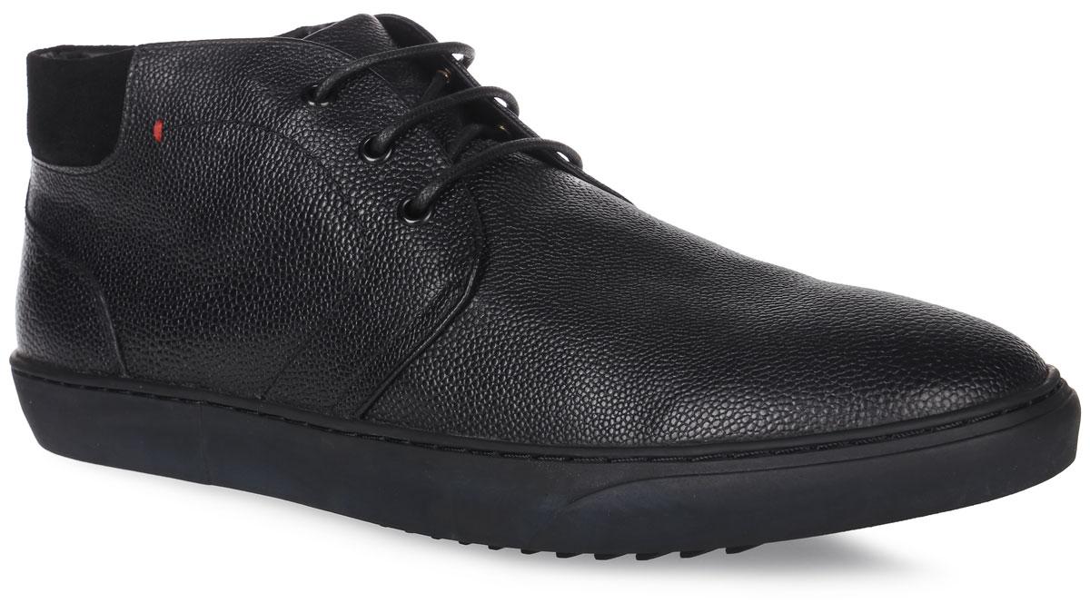 91-407-11-5Мужские ботинки от Paolo Conte выполнены из натуральной кожи. Подъем модели оформлен шнуровкой. Подкладка и стелька изготовлены из байки. Резиновая подошва оснащена рифлением.