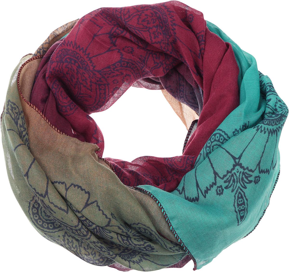 ПалантинYY-11675-11Элегантный палантин Sophie Ramage изготовлен из высококачественного модала с добавлением шелка. Оформлена модель стильным цветочным принтом. Палантин красиво драпируется, он превосходно дополнит любой наряд и подчеркнет ваш изысканный вкус.