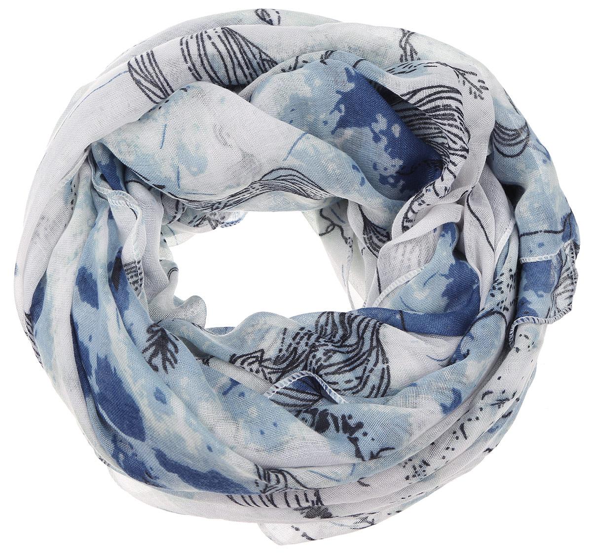 ПалантинYY-11656-11Элегантный палантин Sophie Ramage изготовлен из высококачественного модала с добавлением шерсти. Оформлена модель стильным цветочным принтом. Палантин красиво драпируется, он превосходно дополнит любой наряд и подчеркнет ваш изысканный вкус.