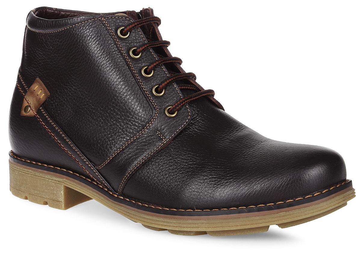 99-204-01-7Мужские ботинки от Paolo Conte выполнены из натуральной кожи. Подъем модели оформлен шнуровкой и дополнен сбоку застежкой-молнией. Подкладка и стелька изготовлены из натурального меха. Резиновая подошва оснащена рифлением.