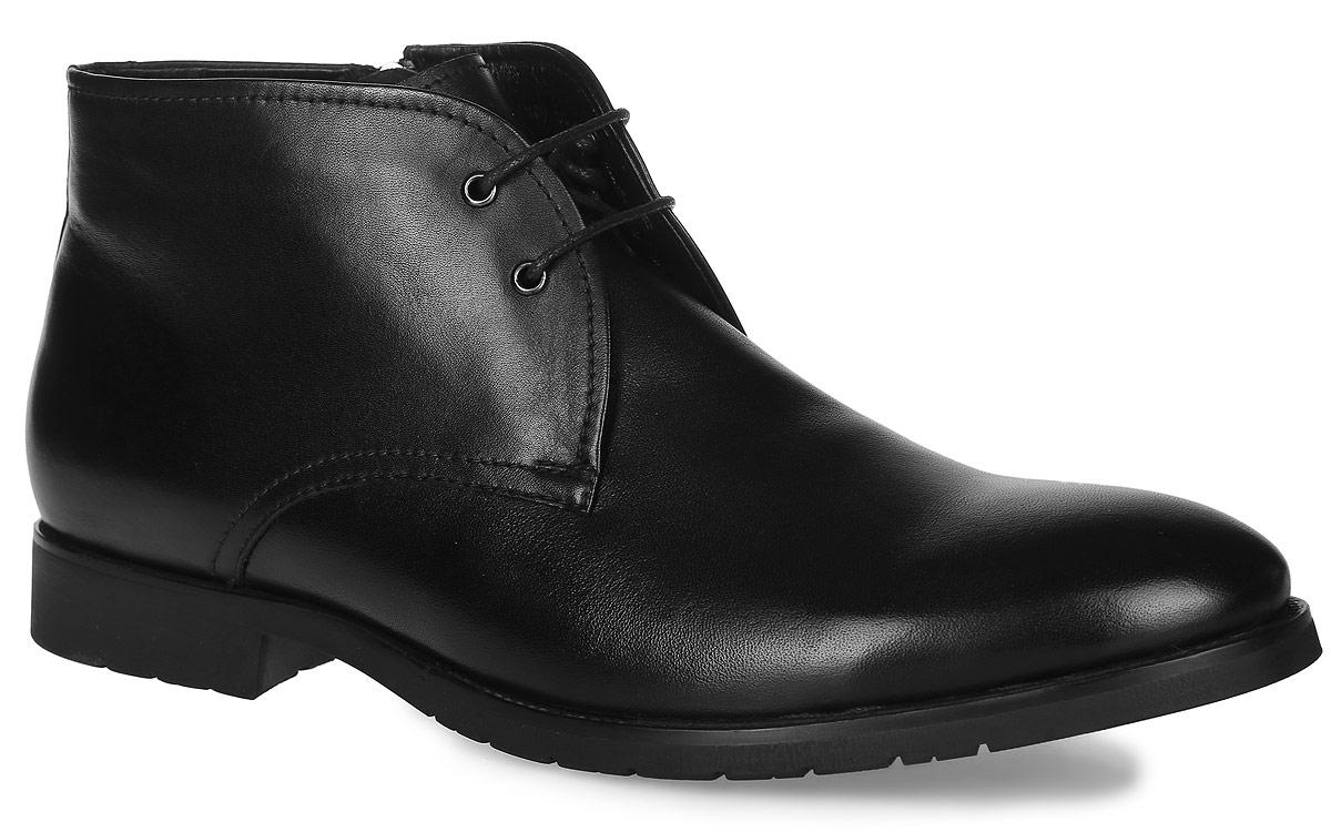 91-213-10-5Мужские ботинки от Paolo Conte выполнены из натуральной кожи. Модель на застежке-молнии, подъем дополнен классической шнуровкой. Подкладка и стелька изготовлены из байки. Резиновая подошва оснащена рифлением.