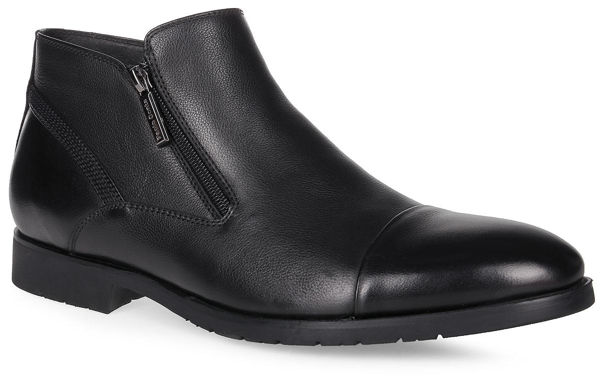 91-213-01-5Мужские ботинки от Paolo Conte выполнены из натуральной кожи. Подъем модели дополнен застежками молниями. Подкладка и стелька изготовлены из мягкой байки. Резиновая подошва оснащена рифлением.