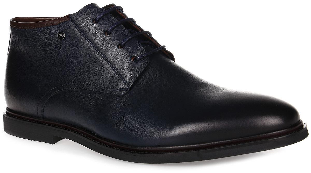 91-211-20-5Мужские ботинки от Paolo Conte выполнены из натуральной кожи. Модель на застежке-молнии, подъем дополнен классической шнуровкой. Подкладка и стелька изготовлены из байки. Резиновая подошва оснащена рифлением.