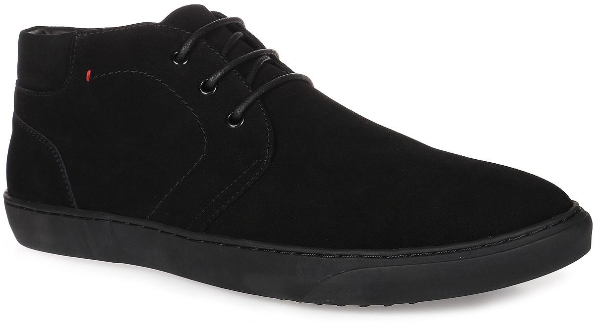 91-407-01-8Мужские ботинки от Paolo Conte выполнены из натуральной замши. Подъем модели оформлен шнуровкой. Подкладка и стелька изготовлены из искусственного меха. Резиновая подошва оснащена рифлением.
