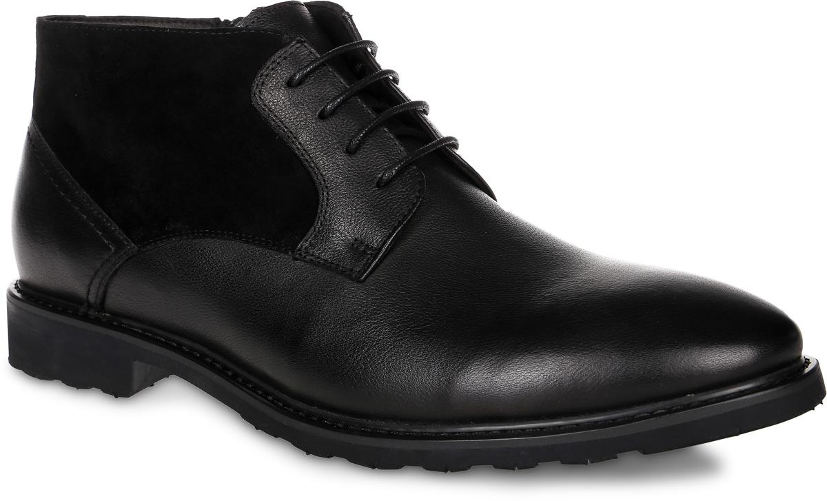 91-219-01-5Мужские ботинки от Paolo Conte выполнены из натуральной кожи со вставками из натурального велюра. Подъем модели оформлен шнуровкой, боковая сторона дополнена застежкой-молнией. Подкладка и стелька изготовлены из байки. Резиновая подошва оснащена рифлением.