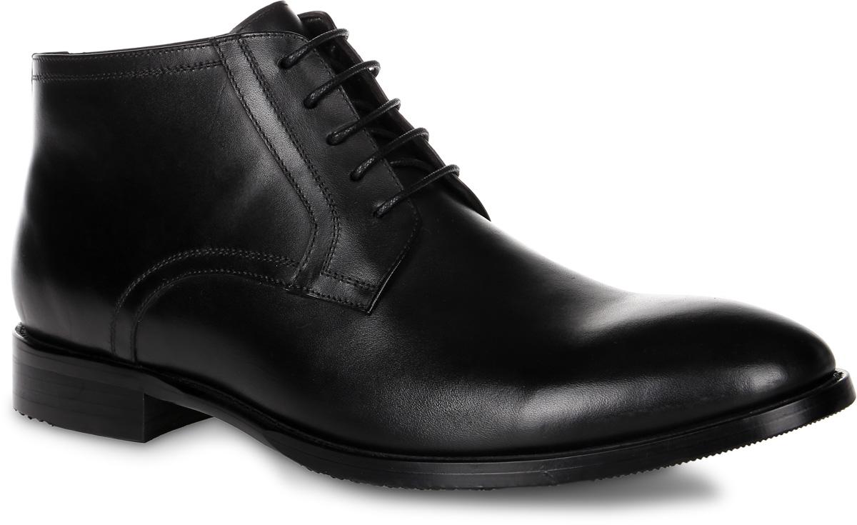91-200-10-5Мужские ботинки от Paolo Conte выполнены из натуральной кожи. Подъем модели оформлен шнуровкой, боковая сторона дополнена застежкой-молнией. Подкладка и стелька изготовлены из байки. Резиновая подошва оснащена рифлением.