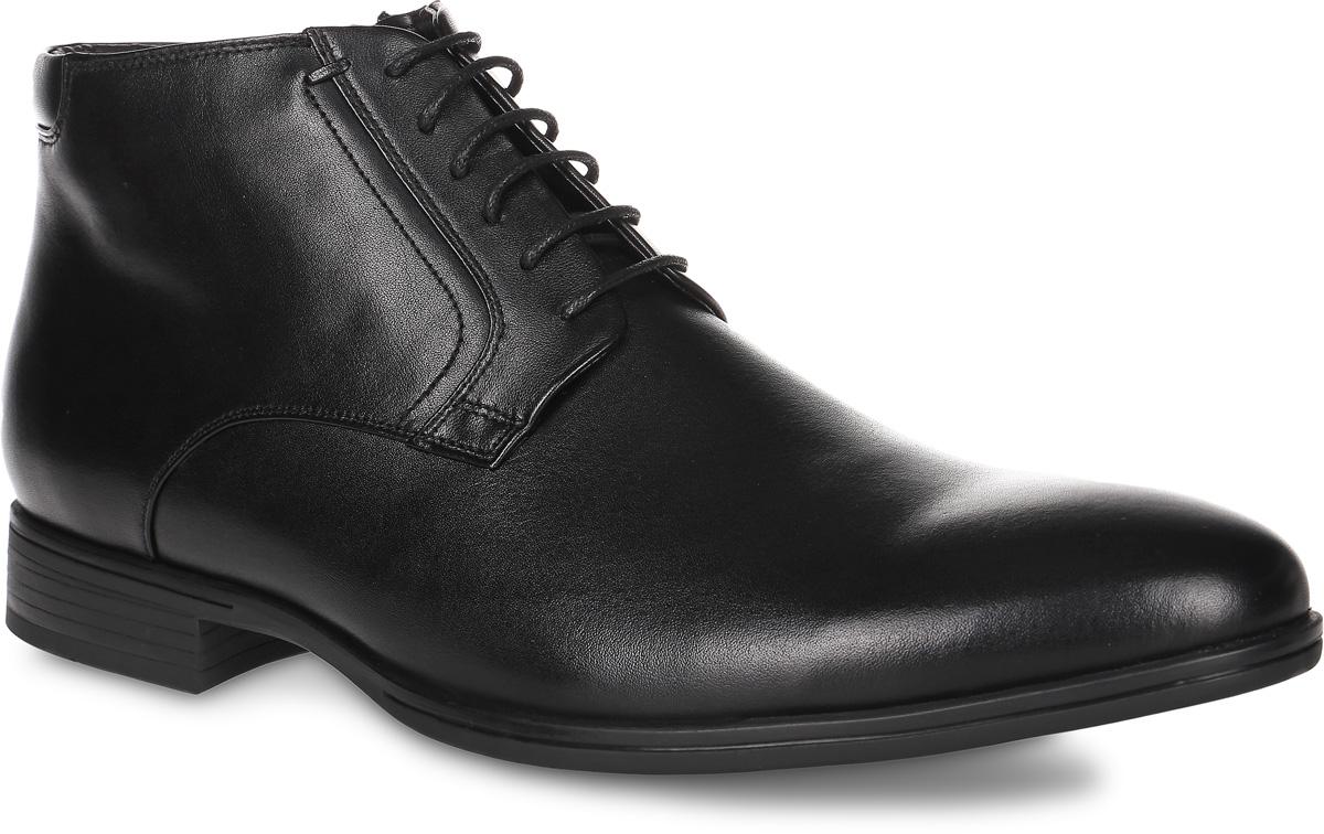 91-211-10-5Мужские ботинки от Paolo Conte выполнены из натуральной кожи. Подъем модели оформлен шнуровкой, боковая сторона дополнена застежкой- молнией. Подкладка и стелька изготовлены из байки. Резиновая подошва оснащена рифлением.